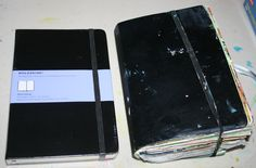 A new moleskine is a gorgeous thing, ripe with possiblities! Just look at it....and then look what happens when I get a hold of it. It no lo...
