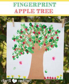 Fun-to Make Fingerprint Apple Tree for Kids
