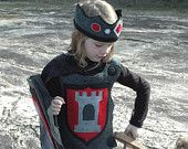 This shop's stuff is amazing! My kids would kill for this stuff!!!!  Knight Body Armor - Breastplate -  RED and BLACK - Halloween Costume - Halloween Costume - Kid Costume