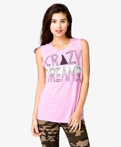 Crazy Dream Graphic Muscle Tee | FOREVER21 - 2021839340 $13.80