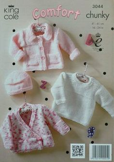 Baby Knitting Pattern K3044 Babies Easy Knit by KnittingPatterns4U