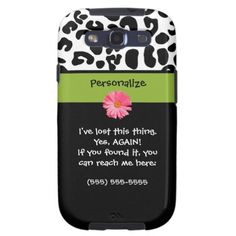 Funny Lost Phone Leopard Print Samsung Galaxy S3 Cover