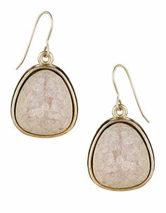Irregular Ceramic Short Drop Earrings