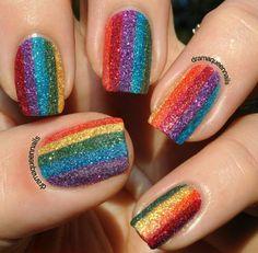 Textured Rainbow with Zoya.