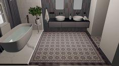 Granito cementtegels in je badkamer toepassen? Dat kan! FLOORZ heeft de grootste collectie cementtegels van Nederland. Aster, Terrazzo, Bathtub, Bathroom, Home Decor, Granite, Standing Bath, Washroom, Bathtubs