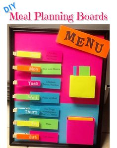 Diy menu planning boards - weekly meal planners for wall weekly menu boards Weekly Menu Boards, Meal Planning Board, Sharing Economy, Weekly Meal Planner, Life Organization, Organizing Life, Organization Ideas, Meals, How To Plan
