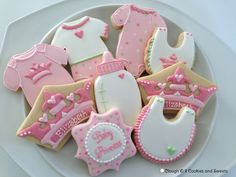 Princess baby shower cookies