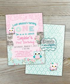 Chevron owl birthday invitation teal pink purple aqua lime owls printable shabby chic rustic owl birthday invitation this soft and sweet mint pink and aquateal accents contain the cutest owls and roses filmwisefo