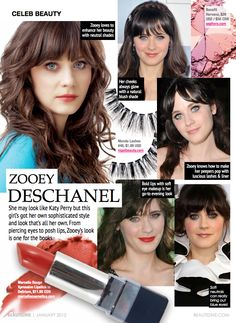 Celeb Beauty: Zooey Deschanel | Beautezine
