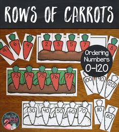Add this engaging carrot-themed resource for sequencing numbers in a variety of ways to your math centers. Give your kindergarten, and grade math students individualized practice. Math Stations, Math Centers, Counting By 2, Free Rabbits, Irrational Numbers, Addition Facts, Sequencing Activities, Second Grade Math, Spring Sign
