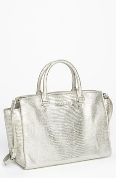 MICHAEL Michael Kors 'Selma - Large' Snake Embossed Leather Satchel available at #Nordstrom