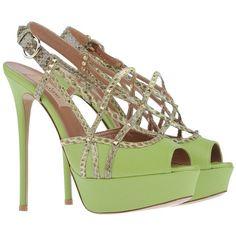 VALENTINO GARAVANI Platform sandals ($628) ❤ liked on Polyvore