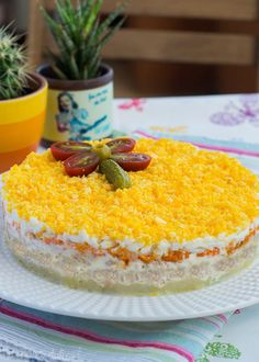 Ensalada mimosa #singluten #sinlactosa Fresh Vegetables, Veggies, Jelly Roll Patterns, Canapes, Pinterest Recipes, Sin Gluten, Food And Drink, Rolls, Appetizers