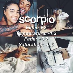 heres a faded filter good for any feed 👁🐻🐨🦇// anyway so let's try scorpio, again im not basing this on guesses, these are from what i know depending on my friends and how i manage to see them. SRSLY GUYS SCORPIOS are intimidating af, they are strong and independent individuals, they can focus well on their goals but mostly they lose motivation during the long run. i see them as quiet individuals but if they don't like something, they are ruthless and honest about how they feel, they are…