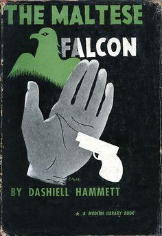 The Maltese Falcon.  Book cover by E. McKnight Kauffer (1934).