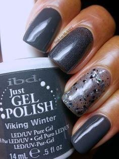 IBD Just Gel Polish Viking Winter, IBD Slate and IBD Glitterazzi