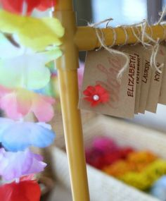 Favors at a Hula Girl Birthday Party!  See more party ideas at CatchMyParty.com!