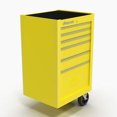 Tool Storage End Yellow 3D Model - 3D Model