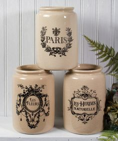 Love this French Crock Set by Ohio Wholesale, Inc. on #zulily! #zulilyfinds