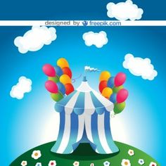 Ilustración de circo vectorial