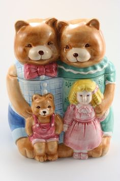 Goldilocks and the Three Bears Cookie Jar by J.C. Penney Home Collection