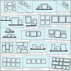 photo collage diagram - top left or end of third row for living room