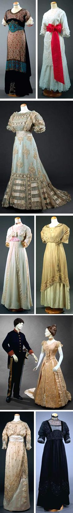 Dresses from the National Museum of Costume and Fashion, Portugal. All date from ca. 1900-1920. matriz.net