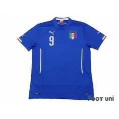 Photo1: Italy 2014 Home Shirt #9 Balotelli - Football Shirts,Soccer Jerseys,Vintage Classic Retro - Online Store From Footuni Japan