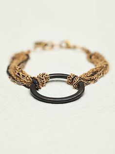 Free People Chained Geo Bracelet, $88.00