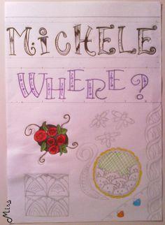 Letras diferentes e alguns doodles DIY que eu achei no Pinterest