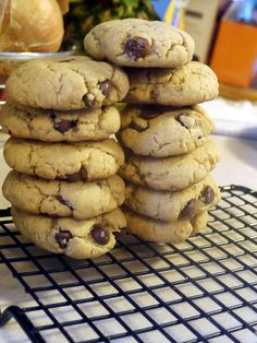 Browned Butter Peanut Butter Chocolate Chip Cookies. Super simple to make and taste amazing.