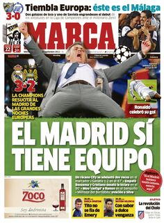 El Madrid sí tiene equipo / Portada del 19 de Septiembre de 2012