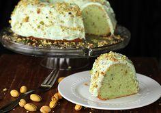 Homemade Pistachio Pudding Cake - The Kitchen Magpie