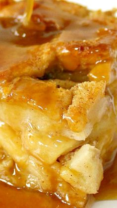 Apple Rum Bread Pudding