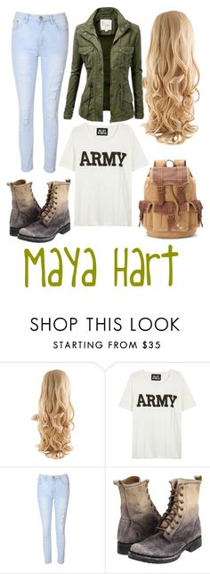 """Maya Hart"" by gmwfashion ❤ liked on Polyvore featuring NLST, Glamorous, Frye, girlmeetsworld and MayaHart"