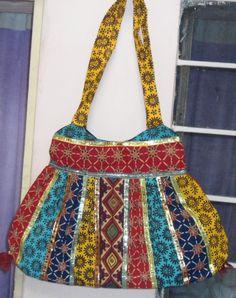 Boho Bohemian Banjara Bag Handmade 100% Cotton Old Saree Recycled Vintage Touch Both Side Same Hippie Tote