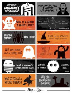 halloween jokes for kids printable Make the whole month of October fun with these Halloween Lunch Box Jokes. Halloween jokes for kids are silly and sure to get a giggle from your c Cute Halloween, Halloween Cards, Best Halloween Jokes, Halloween Riddles, Halloween Signs, Halloween 2019, Halloween Decorations, What Is A Witch, Halloween Care Packages