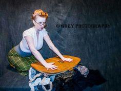 Pinup - redhead - boudoir - studio www.Facebook.com/greyphotographyut