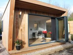 Pinnacle 4x3m showing open 3m bi-fold doors, from £12,995 inc VAT