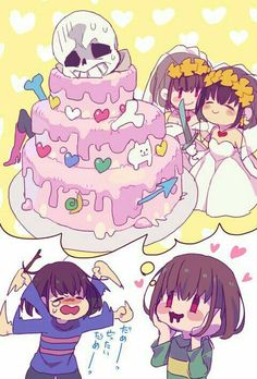 Frisk And Chara Are Geting Married Comics Undertale, Undertale Love, Undertale Memes, Undertale Drawings, Undertale Ships, Undertale Fanart, Frisk, Chara, Desenhos Love