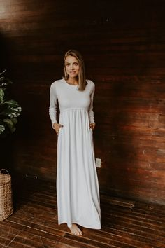 White Long Sleeve Dress, White Dress, Temple Dress, City Hall Wedding, Summer Looks, Plus Size, My Style, Model, How To Wear