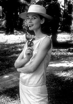 """Audrey Hepburn on the set of """"The Nun's Story"""" in 1959."""