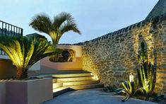 courtyard garden designer outdoor lighting