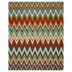 """Safavieh Kirkly Area Rug - Teal / Red (Blue/Red) (7'3"""" X 9'3"""")"""