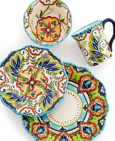 Espana Dinnerware Bocca Scalloped 4 Piece Place Setting - Casual Dinnerware - Dining \u0026 Entertaining  sc 1 st  Pinterest & Ready for your Memorial Day BBQ? This glistening crack-resistant ...