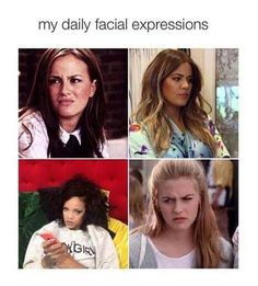 My daily facial expressions