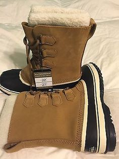 Clothing, Shoes & Accessories Kids' Clothing, Shoes & Accs Nib Sorel Youth Tofino Ii Waterproof Boots In Curry Elk Size 6 Fits Women 7 8