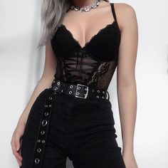 spring womens fashion which look stunning:) 663443 moda donna primavera che sembra incredibile :] 663443 Hipster Outfits, Edgy Outfits, Gothic Outfits, Grunge Outfits, Mode Outfits, Fashion Outfits, Womens Fashion, Black Outfit Grunge, Hipster Goth