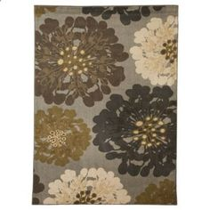 Not even sure where I would put it but pretty sure I love it! Mohawk Home Flowers Area Rug - Cocoa Praline
