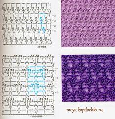 Colección de patrones y motivos, los de punto